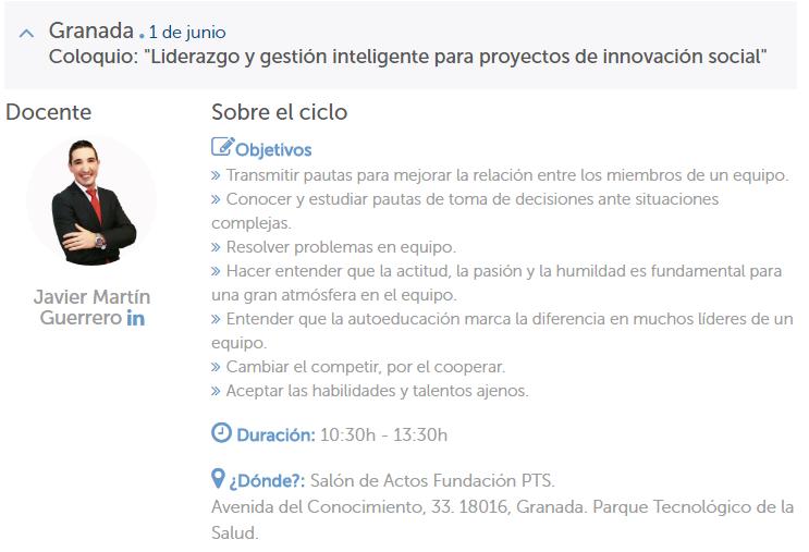 """La Red Guadalinfo organiza el Ciclo de Coloquios """"Los retos del innovador"""""""