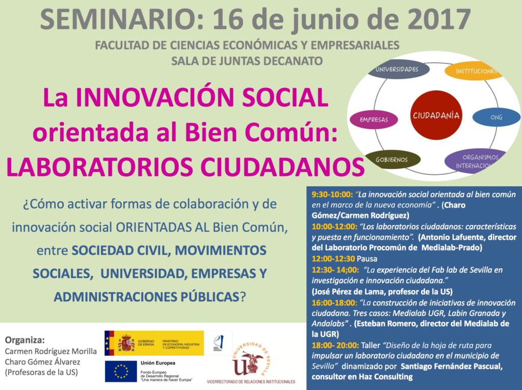 LabIN Granada, presente en un seminario sobre innovación social en Sevilla