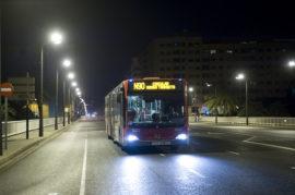 Mejora de los autobuses nocturnos en Granada