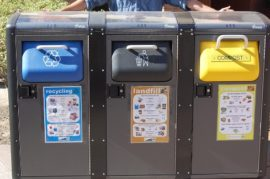 Contenedores de reciclaje inteligentes