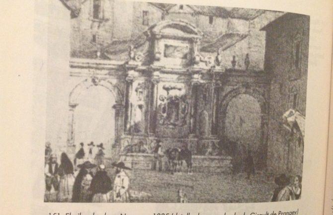 Reconstrucción de la primitiva fuente existente en Plaza Nueva frente Chancillería