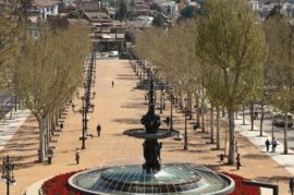 Limitación de acceso de autobuses turísticos al parking de la Alhambra, marcando un punto de desembarque y recogida de pasajeros en el Paseo del Salón.