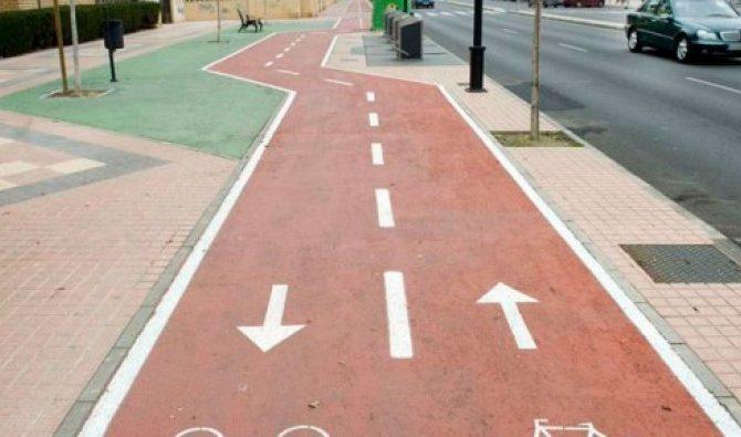 Carril bici para las zonas del centro de la ciudad