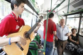 Shows en el transporte público
