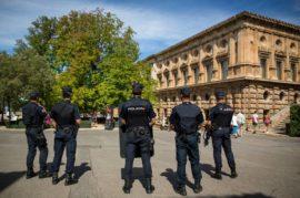 Refuerzo policial en la Alhambra