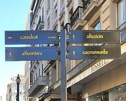 Mejora de la señalización de la zona turística de Granada