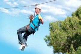 Tirolina desde la Alhambra al Albaicín