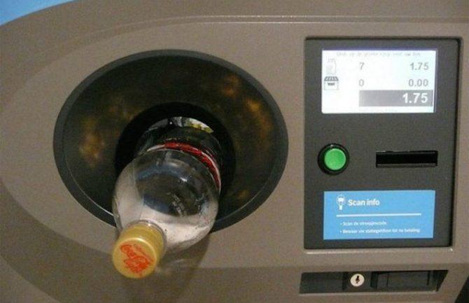 Máquina que te da dinero por reciclar