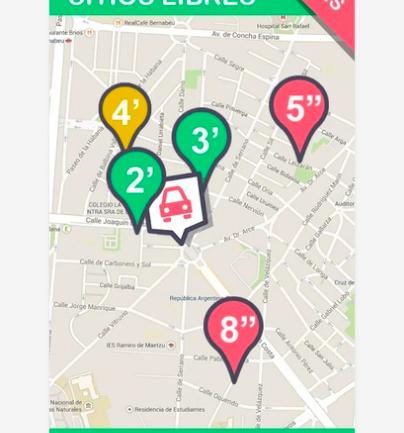 App Gratuita para conocer la disponibilidad de aparcamiento en Granada