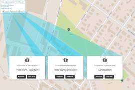 kiez karte, mapa de barrio
