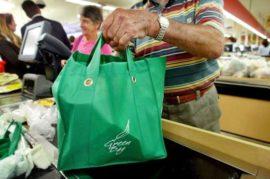 Descuento por uso de bolsas reutilizables