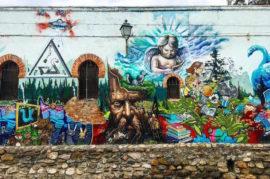 Apoyo a artistas locales mediante la restauración de edificios por medio de graffitis creativos