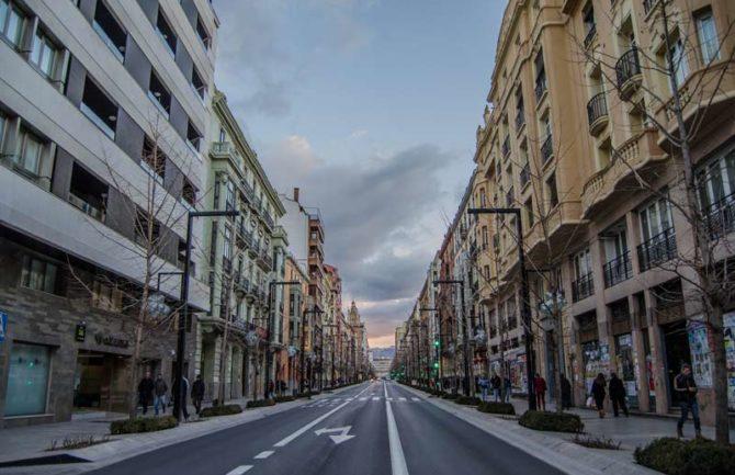Peatonalización de las calles del centro de Granada