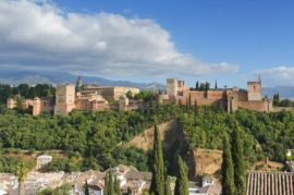 Funicular hasta la Alhambra.