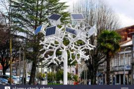 Acceso de energía gratuito ecológico
