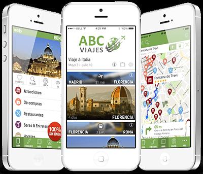 Aplicación para agencia de viajes.