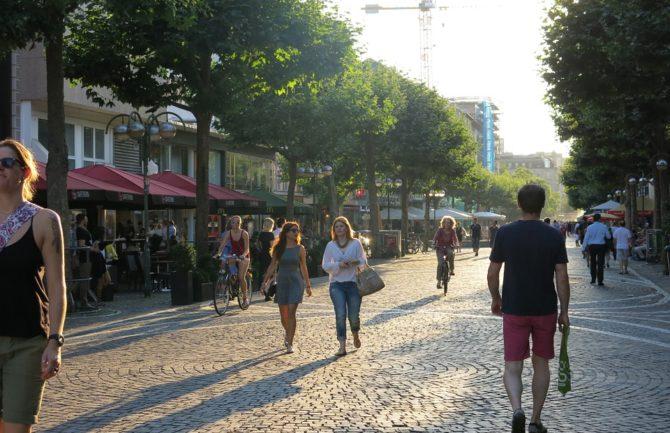 Peatonalización del centro de la ciudad