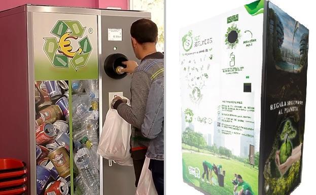 Contenedores que dan dinero por reciclar