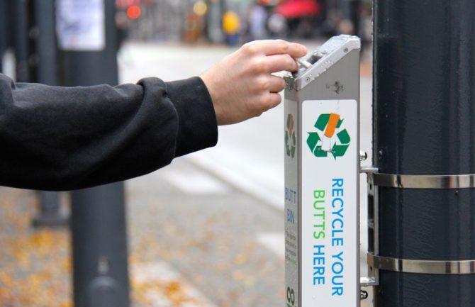 Reciclaje de colillas