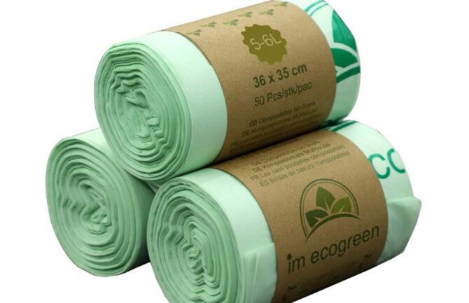 Bolsas de basura biodegradables