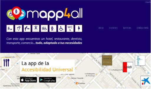App para personas con movilidad reducida