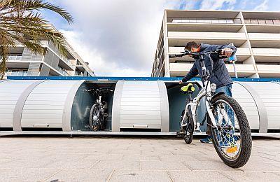 Aparcamiento cubierto y seguro para bicicletas