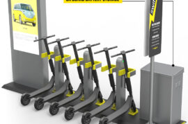 Sistema de estacionamiento y carga de patinetes eléctricos
